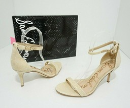 Sam Edelman Patti Women's Beige Mesh Fabric High Heels Sandals Size US 7.5 M - $29.70