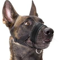 Dog Muzzle Nylon Soft Padding, Adjustable Loop, Black - $13.27
