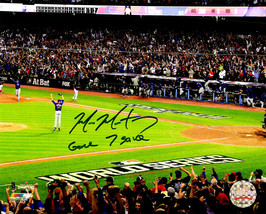 MIKE MONTGOMERY Signed Cubs 2016 World Series Last Out 8x10 Photo w/Game... - $117.81