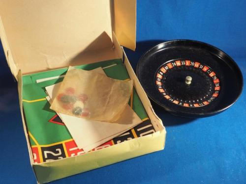 Vintage Reliable Toys Metal Roulette Game Boxed Made In England