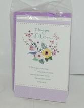 Hallmark I Love You Mom Purple White Happy Birthday Card Set of 4 image 2