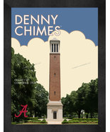 "Alabama Crimson Tide ""Denny Chimes"" 13 x 16 Art Deco Framed Print  - $39.95"