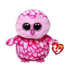 Ty Beanie Boos Stuffed & Plush Animal Colorful Pink Owl Childrens Toy Ki... - $7.50