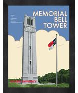 "NC State ""Memorial Bell Tower"" 13 x 16 Art Deco Framed Print  - $39.95"
