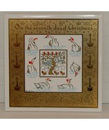 Berggren Swedish Collectble Tile The Seventh Day Of Christmas Kitchen Tr... - $11.99