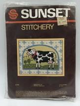 Sunset Stitchery Needlepoint Kit Cow #555 Donna Enstaff Design - $8.54