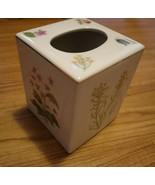 NEW Botanical Gardens TISSUE KLEENEX BOX COVER Ceramic Porcelain Flowers - $14.85