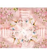 3D Pink Flower Birds Floor WallPaper Murals Wall Print Decal 5D AJ WALLP... - $65.44+