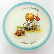 "1972 Vintage Gigi Collector Plate ""Don't Hurry Through Life...Take Time ... - $11.99"