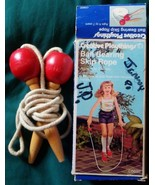 Vtg ca 1970s Creative Playthings Ball Bearing Skip Rope Jump Rope In Box - $16.99