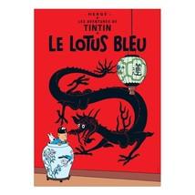 The Blue Lotus Tintin Poster