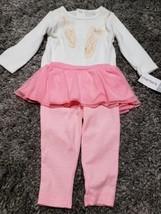 Girls Infants Carter's 2 Piece Top And Tutu  Legging Set 9mth  - $9.50
