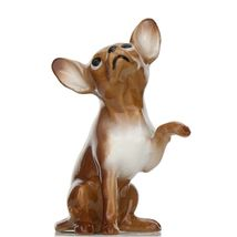 Hagen Renaker Dog Chihuahua Sitting Brown and White Ceramic Figurine image 3