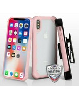For APPLE iPhone XS/X Clear/Rose Gold FreeStyle Challenger Hybrid Case C... - $14.56