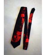 RARE James Dean Novelty Neck Tie Red Black Faces Actor Old Hollywood Por... - $36.62