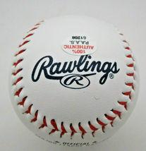 RICKEY HENDERSON / MLB HALL OF FAME / AUTOGRAPHED A'S LOGO OML BASEBALL / COA image 4