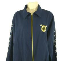 Vtg Bonworth Full Zip Jacket Nautical Sailor Women Size L Blue Collared ... - $29.69