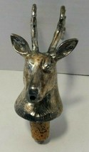 Deer Stag Head Wine Pourer Silver plated Stoppers Aerators Bar Tools Acc... - $9.48