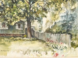 """LISTED ARTIST LEE W. HUGHES JR. (1930-2014) WATERCOLOR ON BOARD 30.5"""" BY... - $399.00"""