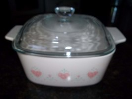 Corning Ware 1 1/2 Quart/1 1/2 Liter Forever Yours Casserole Dish with  lid - $22.46