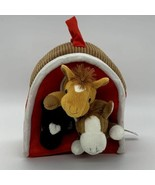 Unipak Design 3 Plush Horses in a Red Barn Farm Toy - $17.77