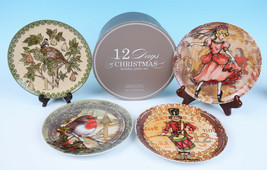 MIB Pottery Barn 12 DAYS OF CHRISTMAS Holiday Plate Set Cocktail Party D... - $91.86