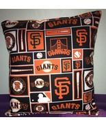 San Francisco Giants Pillow SF Giants MLB Pillow Handmade in USA Baseball - $9.97