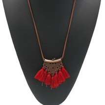 Women Statement Retro Ethnic Bohemian Necklace Tassel Choker Collar Jewe... - $4.30