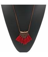 Women Statement Retro Ethnic Bohemian Necklace Tassel Choker Collar Jewe... - $4.30