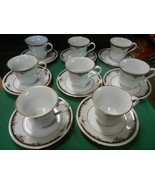 "Beautiful LYNNS Fine China ""Bennington""  Set of 8  CUPS & SAUCERS - $47.11"