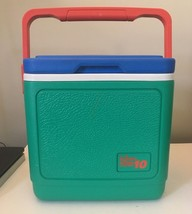 Used Igloo Legend 10 Pack Cooler Ice Chest Red Blue Green  EUC - $19.75