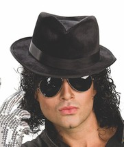 Michael Jackson Adult Black Fedora Hat - $11.29