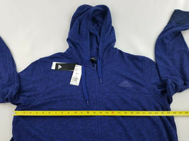 new ADIDAS men jacket hoodie full zip CW9658 blue 2XL MSRP $75 image 3