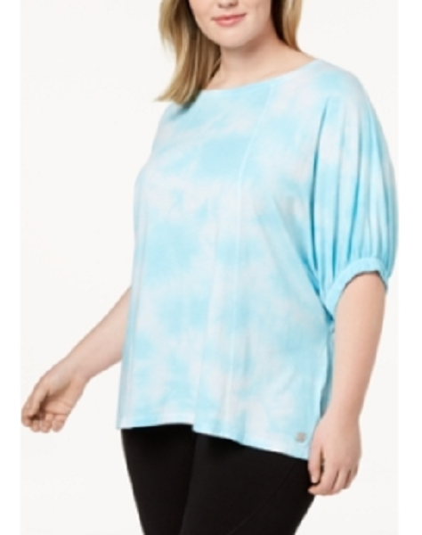 Calvin Klein Performance Plus Size Relaxed Tie-Dyed T-Shirt, MSRP $59