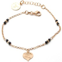 Silver Bracelet 925 Laminated in Rose Gold le Favole with Heart AG-905-BR-54 image 1