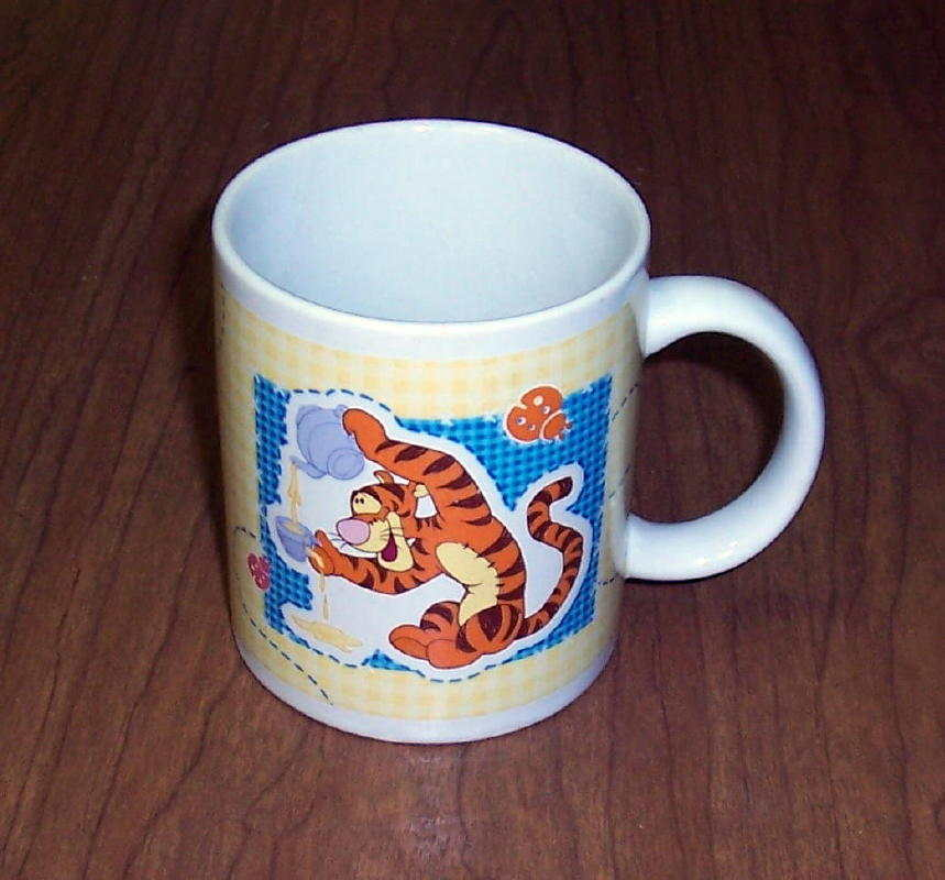 Primary image for Winnie Pooh TIGGER Snack Time Tea & Crumpets Ceramic Coffee Mug Cup
