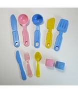 Lot of Vintage Fisher Price Fun With Food Cooking Utensils and Salt & Pe... - $14.99