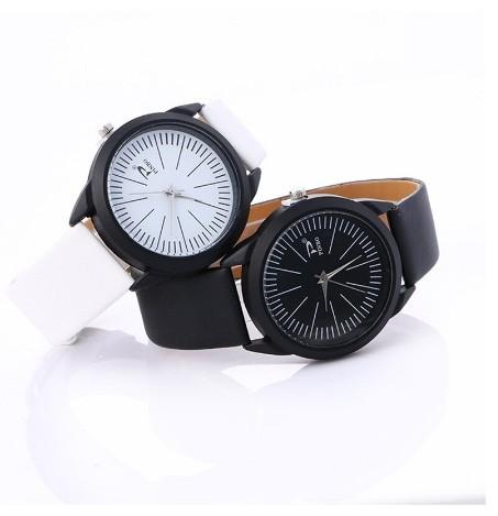 Round Lines Sport Watches Women Black Leather Belt Luxury Wristwatch image 1