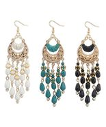 Bohemian Fringed Dangle Drop Hook Earrings - $18.00