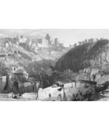 ITALY Sicily Ancient Enna Castro Giovanni - Antique Print - $21.42