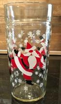 "Vintage Dancing Santa Claus 16oz. Tall Glass Tumbler 6""  - $12.99"