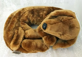 Warm Whiskers Basset Hound Plush Neck Pillow Adult Size Buckwheat Lavend... - $15.78