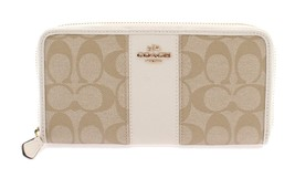 Coach Signature Pvc Leather Accordian Zip Walle... - $126.28
