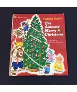 Vintage 1972 The Animals Merry Christmas Richard Scarry K Jackson Golden... - $17.72