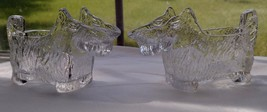 Pair 1950's Scottie Dog Glass Candy Containers Creamers Gorgeous Clear S... - $24.95