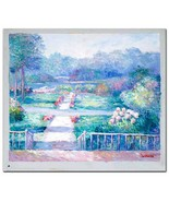 W. Philips! Untitled Original Oil Painting on Canvas, Hand Signed by the... - $103.55