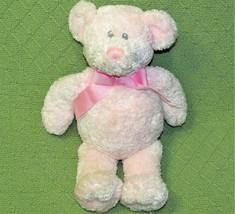 "Baby Adventure Pink Teddy Bear Stuffed Animal 12"" Plush Bean Bag Stitched Eyes - $11.30"
