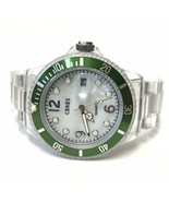 Ceres M-514 MOP Dial Green Clear Case/Band Plastic Watch Fresh Battery E... - $37.62