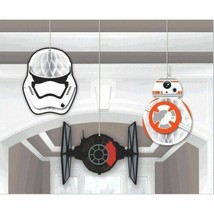 "Star Wars ""The Force Awakens"" VII 3 Ct Honeycomb Decoration Kit  - $7.95"