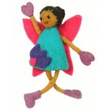 Handmade Felt Tooth Fairy Doll -  Black Hair Black Eyes - $23.74